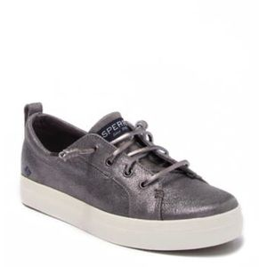 NWT Sperry Crest Vibe pewter metallic sneakers 6